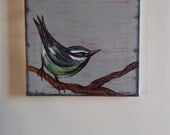 Blue Tit Original Painting on Canvas