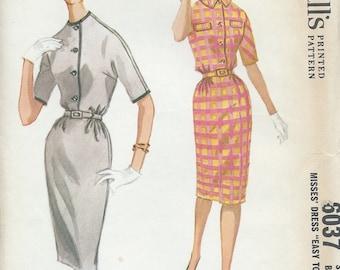 UNCUT Vintage Dress Sewing Pattern McCall's 6037