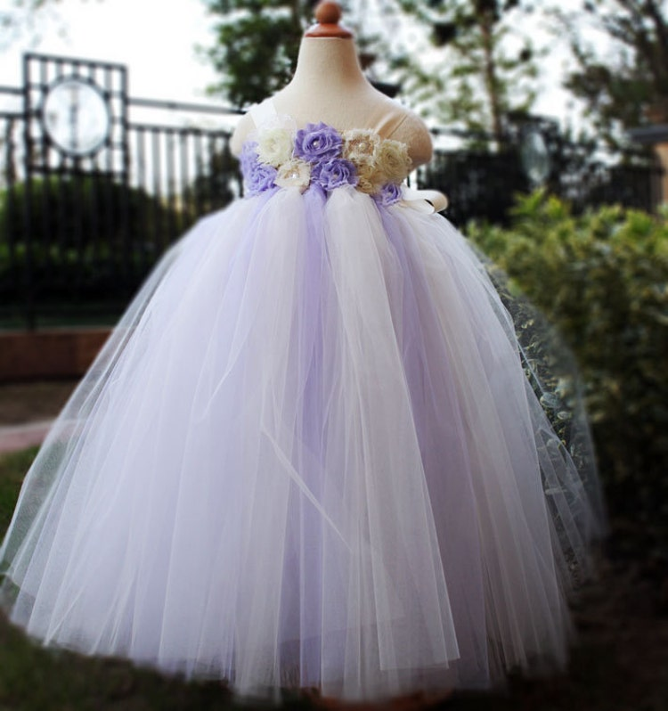 Birthday Dresses For Girls: Lilac Flower Girl Dress Party Dresses Tutu By