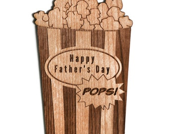 Father's Day Card, Popcorn Shape Card