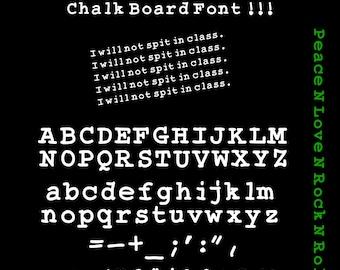 "The ""Bamtastic"" Chalk Board Font, Fun Font"