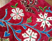 Tribal vintage fabric Hmong Fabric hand embroidered fabric Hill tribe Chinese Hmong