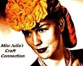 Almost FREE Vintage 1945 Fancy Ruffled Flower Fascinator Hat 224 PDF Digital Crochet Pattern
