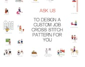 Customized cross stitch pattern. Personalised retirement gift. Gift for work aniversary. Birthday gift for colleague. Work pattern