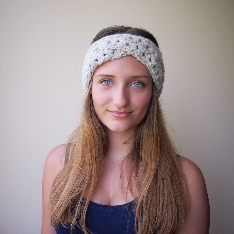 Crochet Pattern PDF, turban headband, lace woman headband