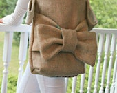 burlap coffee tote messenger bag carrier purse- create your own custom bag!