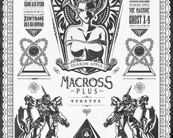 Macross Plus Anime Vintage Geek Art signed museum quality giclée fine art print