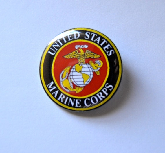 Marines pinback button USMC badge Marine by ...