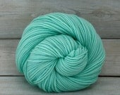 Calypso - Hand Dyed Superwash Merino Wool DK Light Worsted Yarn - Colorway: Glacier