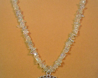 "24"" of Sparkling, shimmering iridescent necklace - N251"