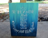 You Be the Anchor // Mayday Parade lyrics // 16x20 or 11x14 canvas // blue ombre // MADE TO ORDER