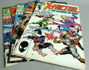 Vintage X Factor Comic Book, Choice of No. 5 or No. 23, June 1986, or December 1987, Marvel Comics
