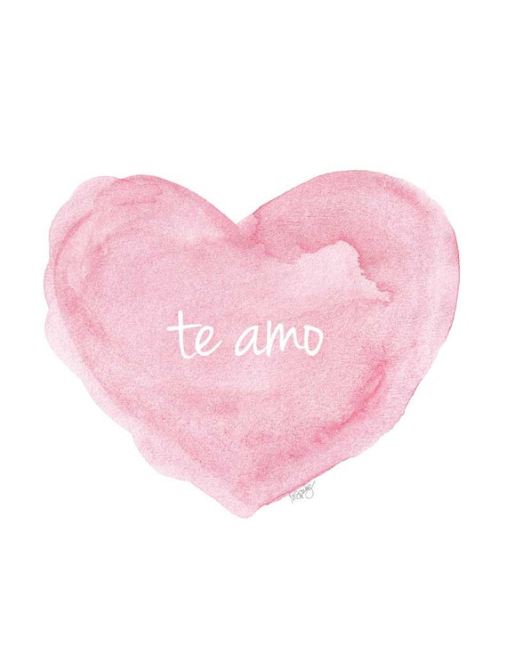 te amo, Spanish Nursery Art, 11x14