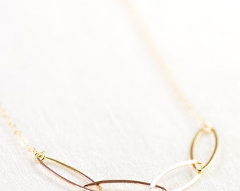 Puakai necklace - gold necklace, delicate gold filled necklace, gold chain necklace, everyday necklace, gift for mom, gift for her, hawaii