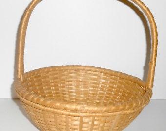 Wicker Basket, Sewing Basket, Gathering Basket, Knitting Basket, Storage Basket,  Basket with Handle, Craft Basket, Craft Supplies