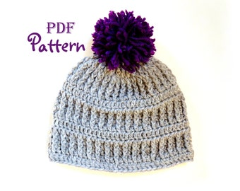 PDF CROCHET PATTERN, Snow Country Crochet Beanie Pattern, Crochet Hat Pattern, Unisex Design, Digital Download, Photos, Make this Yourself