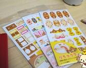 Lovely Bear Label Sticker Set - Japanese Sticker - Diary Sticker - FiloFax Sticker - Paper Sticker - 6 sheets in