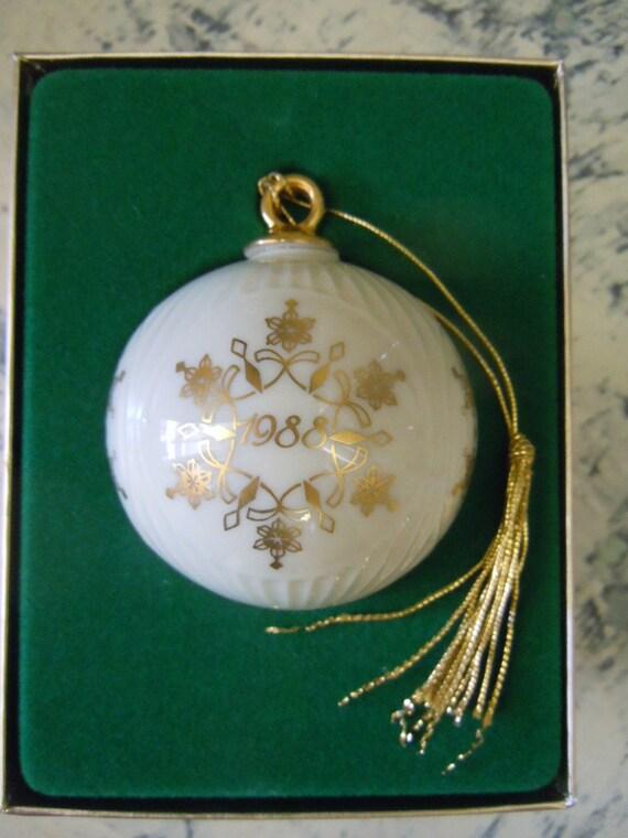 Snowflake ornament lenox porcelain christmas