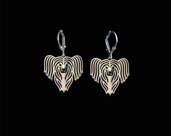 Chinese Crested earrings - sterling silver.