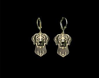 Weimaraner earrings- Gold