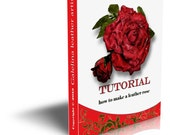 Leather flower rose making tutorial   Japanese  technique PDF e book