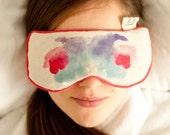 Eye pillow with pure lavender and rosemary oils and organic buckwheat