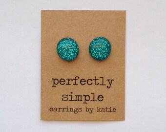 PARADISE glitter stud earrings