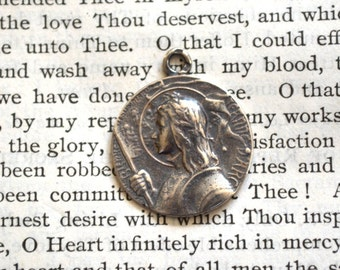 St Joan of Arc Sterling Silver Medal- Vintage Replica - Made in the USA