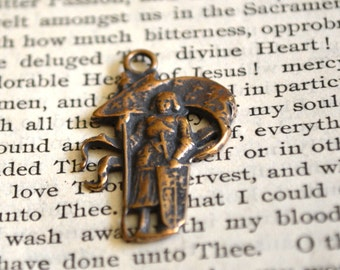 St. Joan of Arc - Religious Medal - Catholic Medal - Bronze or Sterling Silver (SF-1061)