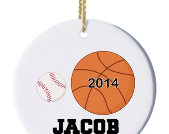Personalized Christmas Ornaments Sports 1 Ornament