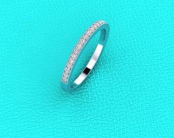 Platinum pave' set diamond band
