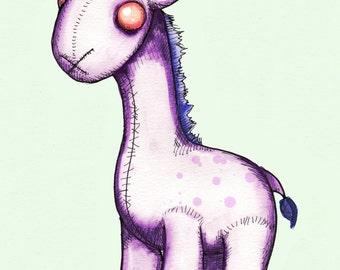 Purple Giraffe Fine Art Print