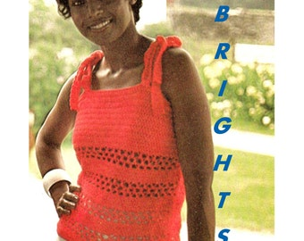 Digital Download Summer Camisole Crochet Pattern - Retro Cool to Brighten Your Wardrobe - Crochet Supplies Crochet Patterns