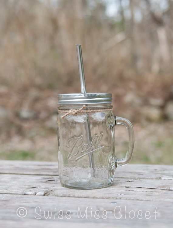 Mason Jar Large Large 24oz Handled Mason Jar