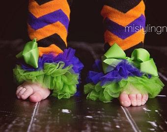 Halloween Leg Warmers leggings baby girl Ruffled Tulle Pants  Outfit