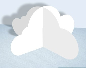 3D Cloud Printable Decoration Template