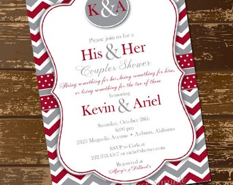 His & Her Shower Invitation - Digital File