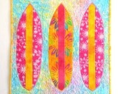 Surfboard I: Quilted Wall Art