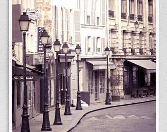 Paris photography - Rue Léopold-Bellan  - Paris facade,Paris photo,Fine art photography,Paris decor,8x10,white,Fine art prints,Art Posters