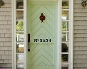 No. + House Number Door Decal in Vinyl