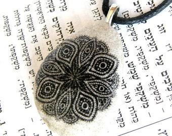 Mandala, Mandala necklace,Bohemian style necklace, Mandala pendant, Handmade Mandala, Handmade, stone mandala necklace, Indian necklace
