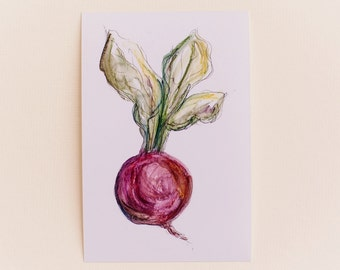Radish Print OR Any 1 Vegetable Print