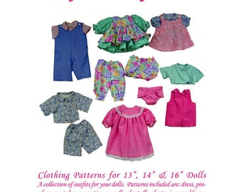"Clothing Patterns for 13"", 14"" & 16"" Dolls  - Joy's Waldorf Dolls"