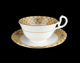 Vintage Aynsley Bone China Footed Cup and Saucer Set - England