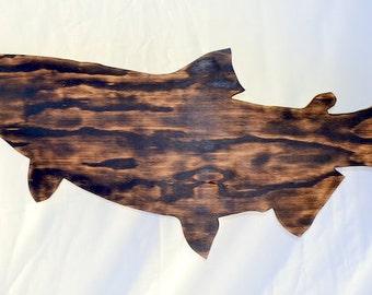 King Salmon – Fish - Brown - Silhouette - Shadow
