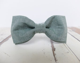 Olive Green Bow Tie for Men Greenery Bow Tie Mens Bow Tie Wedding Accessories for Men Green Gray Bow Tie Gift for Men Nature Lover Gift