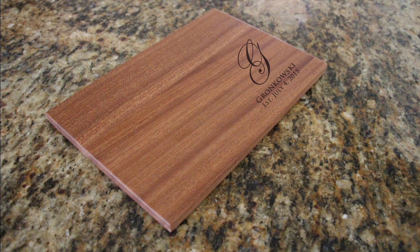 Personalized Cutting Board Wood Cutting Board Engraved