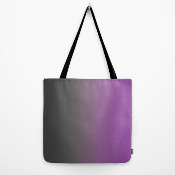 Purple Tote Bag Book Bag Grocery Bag Beach Bag Purple