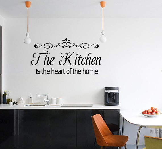 Kitchen Is The Heart Of The Home Words Home Vinyl Decor Decal