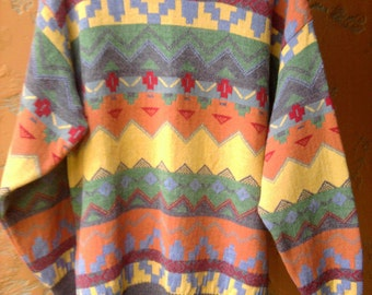 Made in Italy - Men's Wool Blend Quality Designer Sweater - Size L / XL